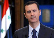 نظر اسد در مورد تجزیه سوریه