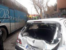 تصادف مرگبار اتوبوس با هفت خودرو در ولنجک