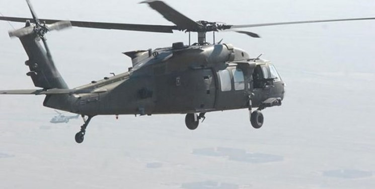 تصویر از پرواز بالگردهای آمریکایی بر فراز سفارت ایران و «منطقه سبز» بغداد