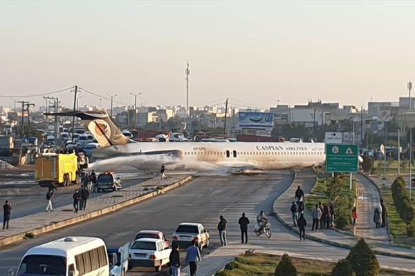 تصویر از پرواز تهران_ماهشهر از باند خارج شد