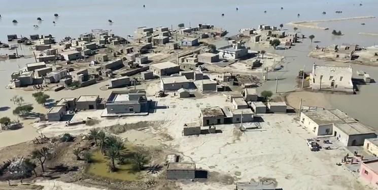 تصویر از آخرین وضعیت مناطق سیلزده سیستان و بلوچستان؛ برآورد اولیه از خسارات اعلام شد