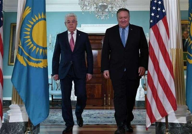 تصویر از پامپئو در قزاقستان: نسبت به چین و روسیه هوشیار باشید