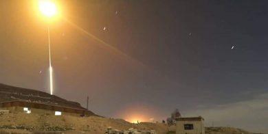 پدافند سوریه با اهداف متخاصم در آسمان دمشق مقابله کرد