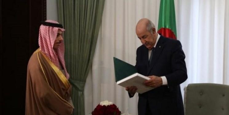 تصویر از جزئیات گفتگوی وزیر خارجه عربستان با رئیس جمهور الجزائر