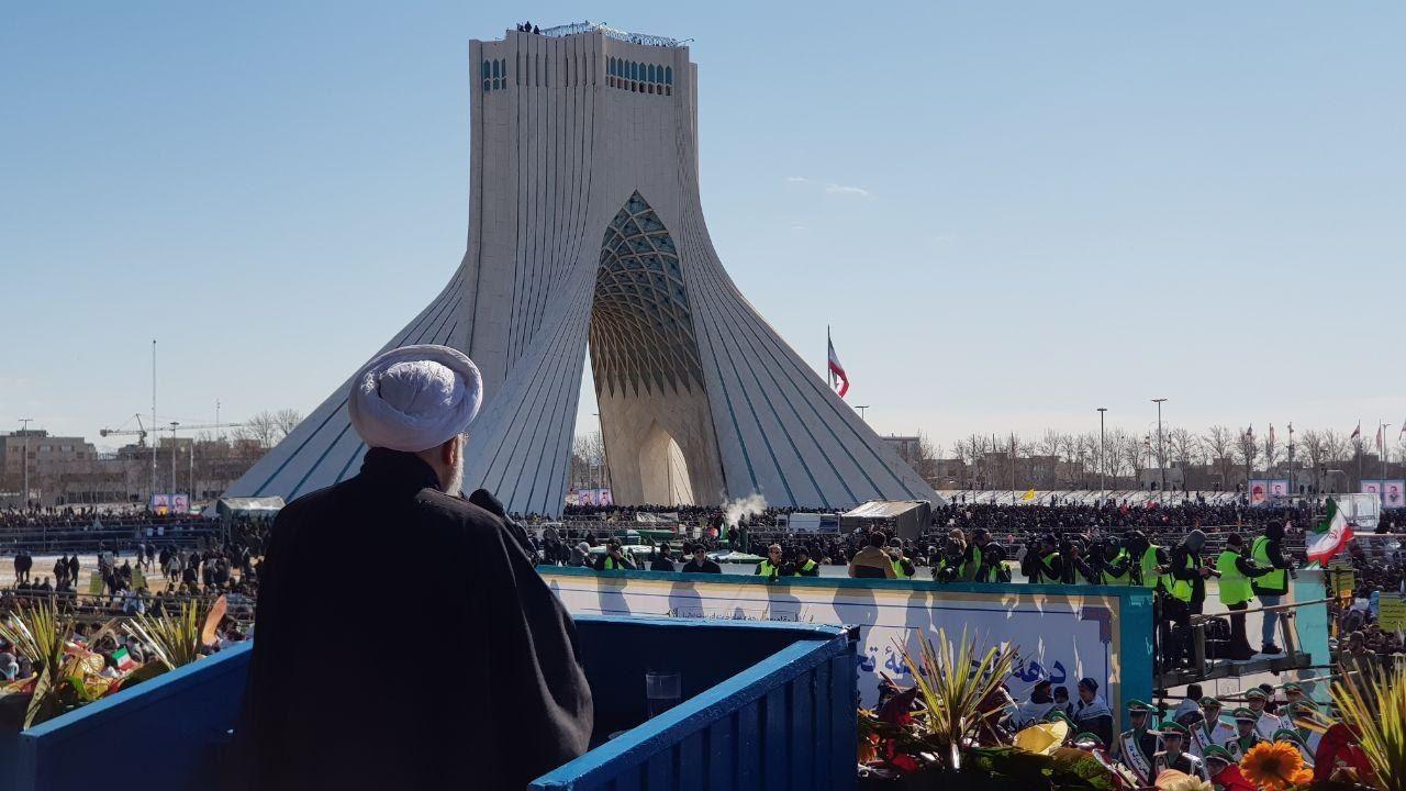 تصویر از سخنان روحانی در مراسم ۲۲ بهمن