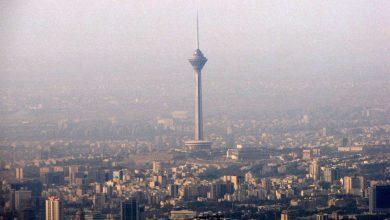 تصویر از آلودگی عجیب هوای تهران در آخر هفته کرونایی