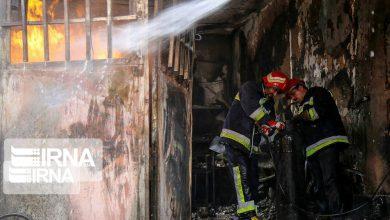 تصویر از بخش دیالیز بیمارستان رازی اهواز آتش گرفت