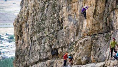 تصویر از نجات جان ۴ صخره نورد در بیستون پس از ۲۰ ساعت