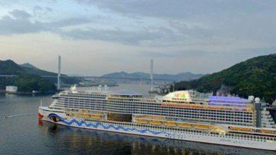 تصویر از خدمه کشتی ایتالیایی پهلو گرفته در ژاپن به کرونا مبتلا شدند