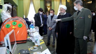 Photo of بازدید روحانی از تجهیزات وزارت دفاع برای مبارزه با کرونا
