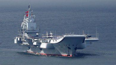 تصویر از چین دو ناو هواپیمابر خود را به سوی تایوان اعزام میکند