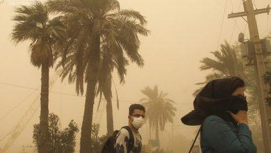 تصویر از گرد و خاک استانهای غربی منشا خارجی دارد؛ تداوم کاهش کیفیت هوا تا فردا
