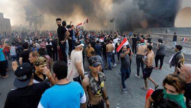 تصویر از وقوع اعتراضات در چند استان عراق