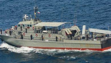 تصویر از حادثه برای ناوچه ایرانی در مانور نیروی دریایی ارتش
