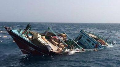تصویر از شناور باری «بهبهان» در آبهای عراق غرق شد|یک فوتی و 2 مفقود