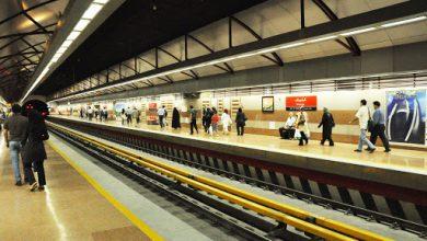 تصویر از خودکشی زن تهرانی در ایستگاه مترو