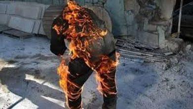 """تصویر از توضیحات """"بنیاد شهید"""" درباره خودسوزی یک جانباز در مقابل این اداره"""