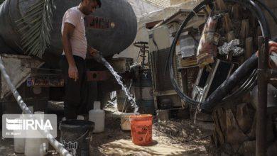تصویر از آب به اولین روستای غیزانیه رسید