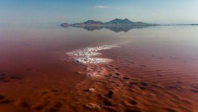 تصویر از چرا آب دریاچه ارومیه قرمز شده است؟