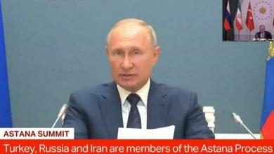 تصویر از پوتین: تحریمها علیه سوریه غیرقانونی است