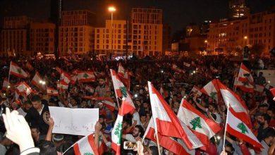 تصویر از درگیری پلیس لبنان با معترضان خشمگین در بیروت|معیشت و انفجار اخیر علت خشم مردم است