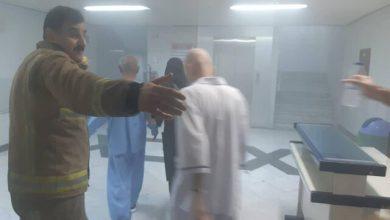 تصویر از آتشسوزی در بیمارستانی در خیابان حافظ تهران