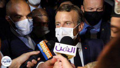 تصویر از ماکرون مقامات لبنان را تهدید کرد