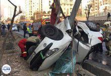 تصویر از سوار کردن مسافر دردسرساز شد   نجات معجزهآسای راننده پژو پس از واژگونی