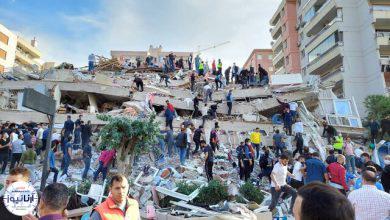 تصویر از وقوع زلزله شدید در ازمیر ترکیه