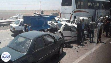 تصویر از تصادف زنجیره ای در چابهار  نمایندگان مجلس در این تصادف آسیب ندیدند
