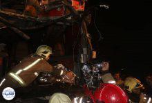 تصویر از تصادف ذنجیره ای در مسیر شمال به جنوب بلوار تندگویان