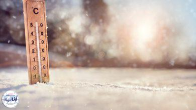 کاهش دما و بارش برف